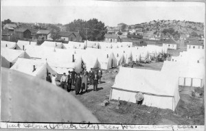 Tent city near Walsenburg